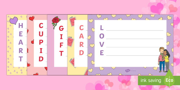 Valentine's Day Acrostic Poems - Valentine's Day,  Feb 14th, love, cupid, hearts, valentine,