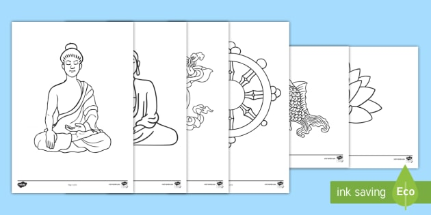 Buddhism Colouring Pages Buddha Buddhist Religion Calm Activity