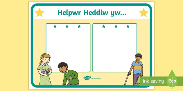 Today's Helper Display Poster Welsh - Welsh Second Language Display Resources, Welsh Display, Welsh, Helpwr Heddiw,Welsh