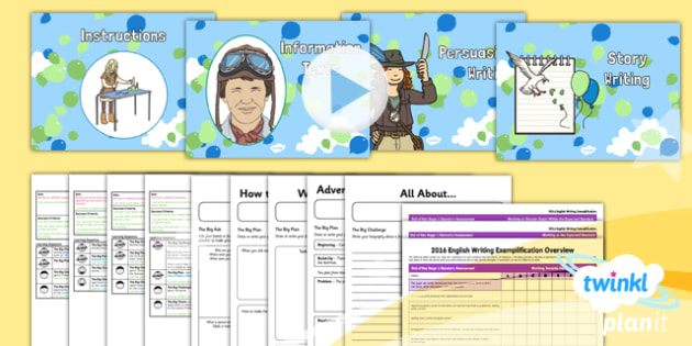 Explorers: Up and Amelia Earhart Y2 Writing Assessment - Adventure story, Disney, famous women, inventors, aviation, transport, big write