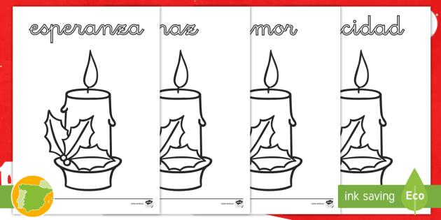 NEW * Hojas de colorear: Velas de adviento - adviento, cristianismo
