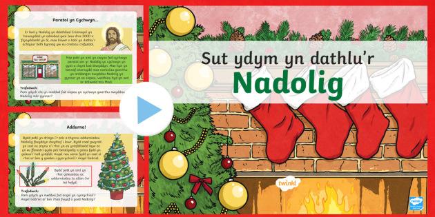 Pŵerbwynt Dathlu'r Nadolig CA2 - Christmas Wales - nadolig, ndolig, nadolig ca2, christmas, Nadolig, Dathlu'r Nadolig, pwerbwynt nadolig CA2,Welsh