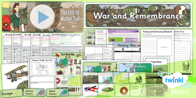 History: War and Remembrance KS1 Unit Pack