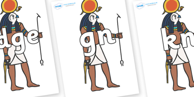 Silent Letters on Egyptian Figures - Silent Letters, silent letter, letter blend, consonant, consonants, digraph, trigraph, A-Z letters, literacy, alphabet, letters, alternative sounds