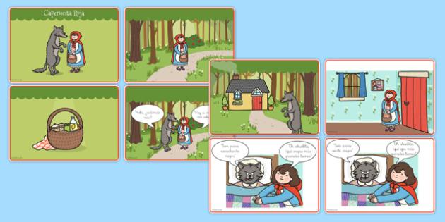Actividad de secuenciar un cuento: Caperucita roja - cuentos, tradicionales, contar, ordenar