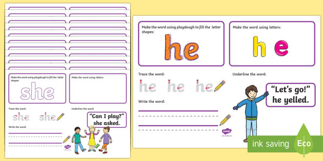 Phase 3 Tricky Words Make Read Write Activity Mats - EYFS Phonics Make, Read and Write Activity Mats, Letters and Sounds, Phase 3, phonics, letter sounds