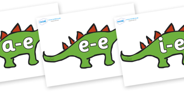 Modifying E Letters on Dinosaurs - Modifying E, letters, modify, Phase 5, Phase five, alternative spellings for phonemes, DfES letters and Sounds