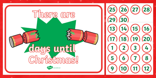 Days To Christmas.Christmas Countdown Display