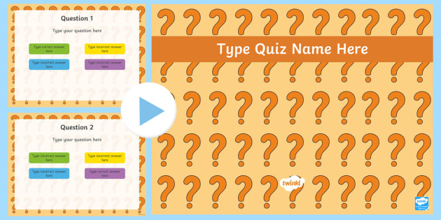 Make Your Own Powerpoint Quiz Editable Template Make Your Own