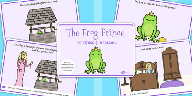 The Frog Prince Story Eal Romanian Translation Romanian Eal