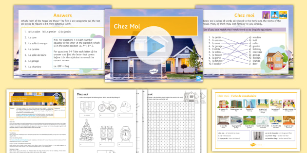 Cover Lesson Rooms Of The House Lesson Pack French Rooms French Ks3