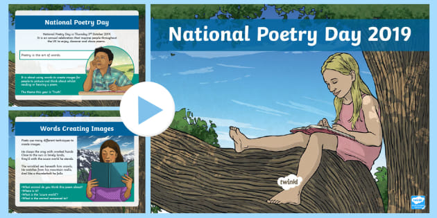 LKS2 National Poetry Day 2019 PowerPoint - poems, free verse