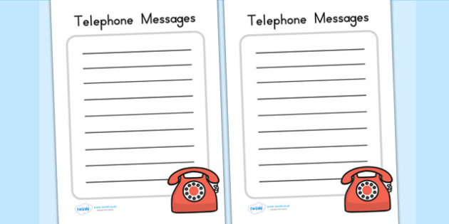 Doctors Surgery Telephone Messages - doctors role play, props