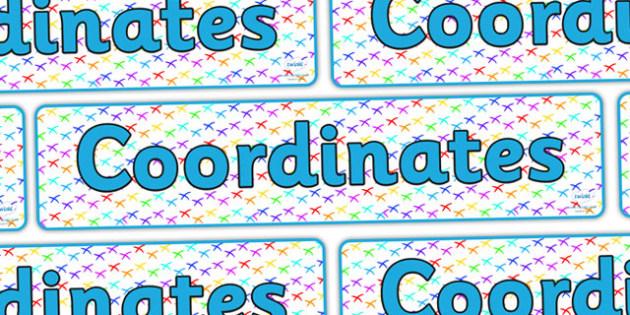 Coordinates Display Banner - coordinates, coordinates banner, co-ordinates banner, maths coordinates, coordinates display, ks2 coordinates, ks2 maths