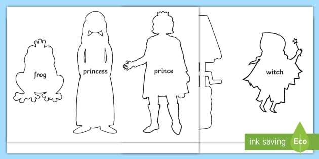The Frog Prince Shadow Puppets - puppets, role play, stories