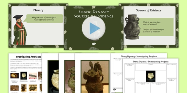 Investigating Artefacts Shang Dynasty Teaching Pack - history