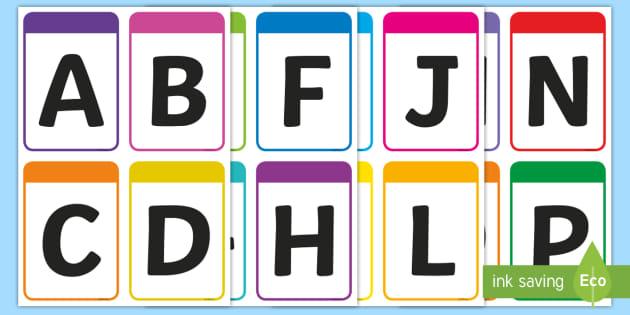 NEW* Upper Case Alphabet Flashcards