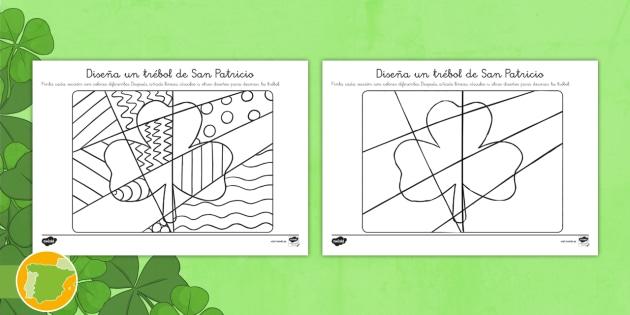 NEW * Ficha de actividad: Diseña un trébol de San Patricio