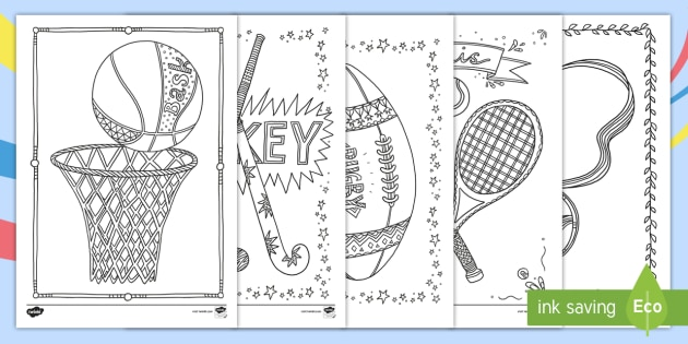 The Commonwealth Games Mindfulness Colouring Pages - australian