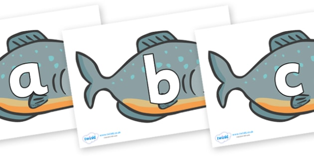 Phoneme Set on Piranhas - Phoneme set, phonemes, phoneme, Letters and Sounds, DfES, display, Phase 1, Phase 2, Phase 3, Phase 5, Foundation, Literacy