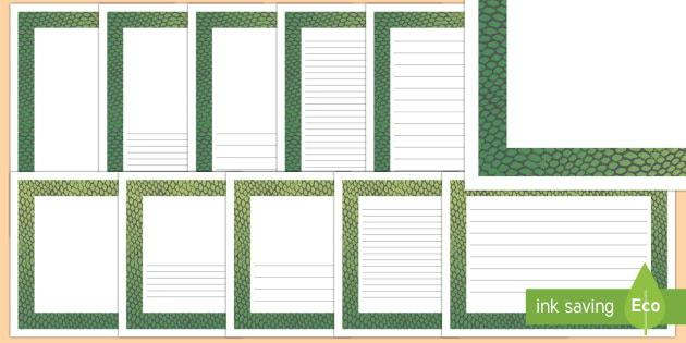 Snake Pattern Portrait Page Border - safari, safari page borders, snake page borders, snake pattern page borders, safari animal pattern page borders