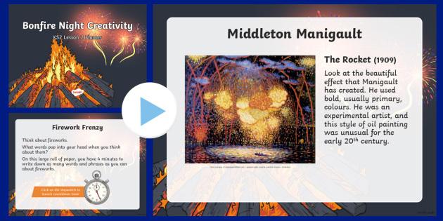 Bonfire Night Creativity Lesson 2 Fireworks PowerPoint