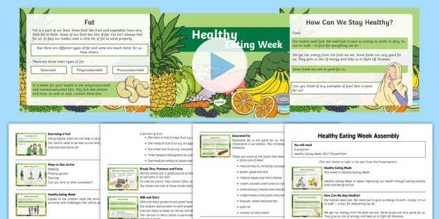 Healthy Eating Week Assembly Pack - Healthy Eating Week, healthy eating, food, healthy lifestyle, assembly