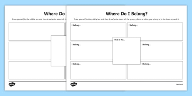 What Does it Mean to Belong? Worksheet / Activity Sheet - what does it mean, belong, activity, religious education, worksheet