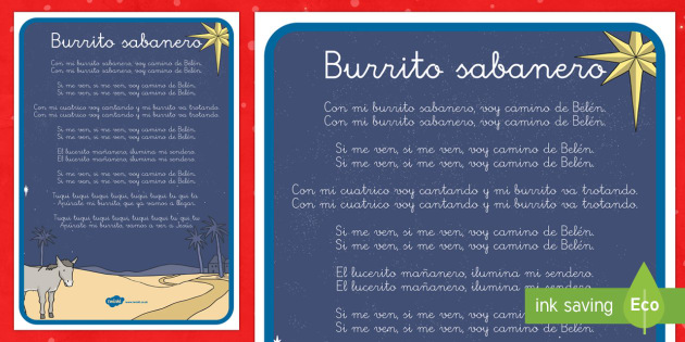 Burrito Sabanero Póster DIN A4-Spanish