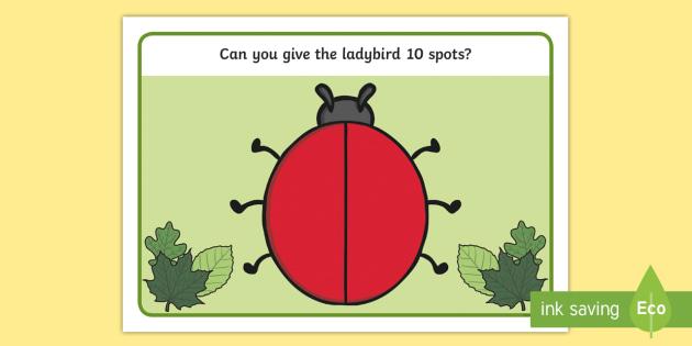 Number Bonds to Ten Ladybird Playdough Mat - activity, numbers, number bonds, friends of 10, counting, ladybird, numeracy, numbers, number bonds, rainbow facts, playdough mats