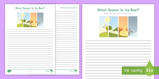 Which season is best opinion writing worksheet activity sheet opinion writing worksheet activity sheet w31 ibookread ePUb