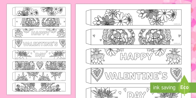 Valentines Day Mindfulness Flowers Paper Chain Activity
