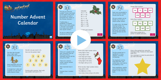 LKS2 Number Advent Calendar PowerPoint