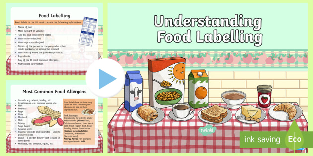 understanding food labelling powerpoint hwb 2 36a nutrition