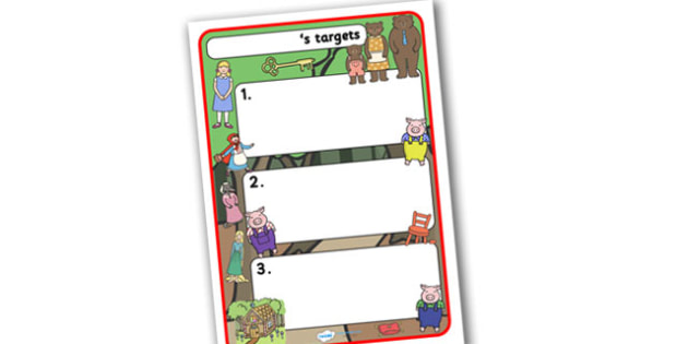 Themed Target Sheets Traditional Tales - Target Sheets, Themed Target Sheets, Traditional Tales Target Sheets, Traditional Tale Themed