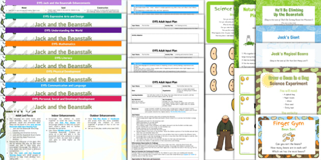 Classroom Enhancement Ideas ~ Eyfs jack beanstalk lesson plan enhancement ideas resource