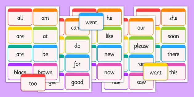 Dolch Word Flashcards Primer - usa, america, dolch, word, flashcards, primer