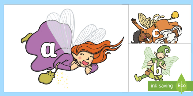 Phoneme Set on Fairies - Phoneme set, phonemes, phoneme, Letters and Sounds, DfES, display, Phase 1, Phase 2, Phase 3, Phase 5, Foundation, Literacy