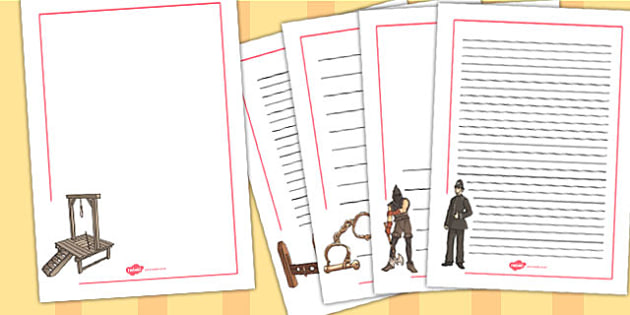 Crime and Punishment Page Borders - page borders, border, history
