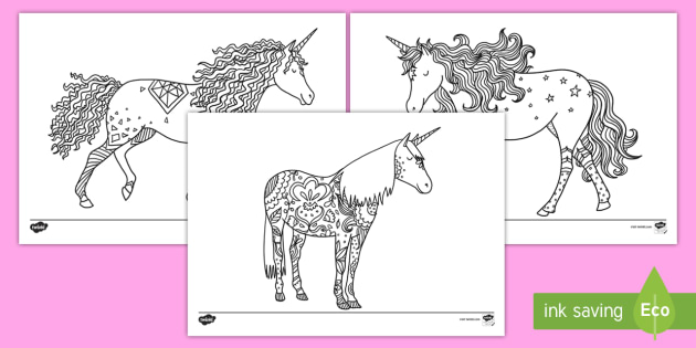unicorn mindfulness coloring activity sheets unicorn color coloring activity art