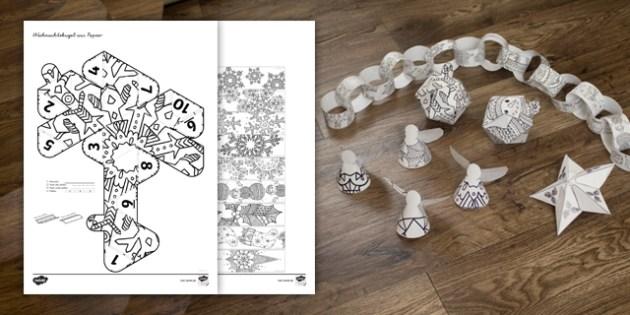 Weihnachtsdekoration zum ausmalen bastelvorlagen basteln - Bastelvorlagen weihnachten zum ausdrucken ...