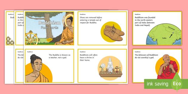 Buddhism Fact Cards - buddhist, Buddha, India, monk, meditation