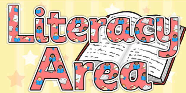 Literacy Area Display Lettering - literacy area, literacy, letter