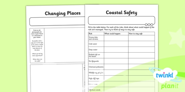 Geography: Our Changing World Year 6 Unit Home Learning Tasks