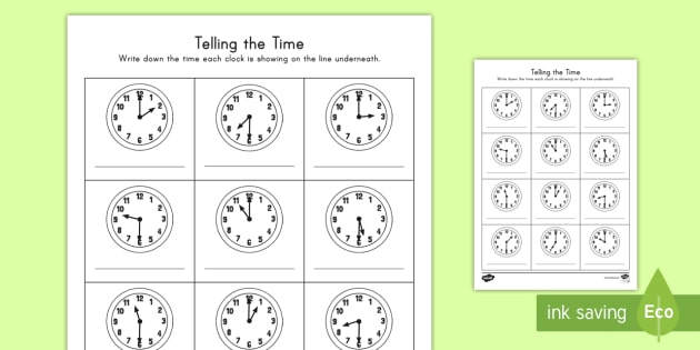 Oclock And Half Past Times Worksheet Activity Sheet Time