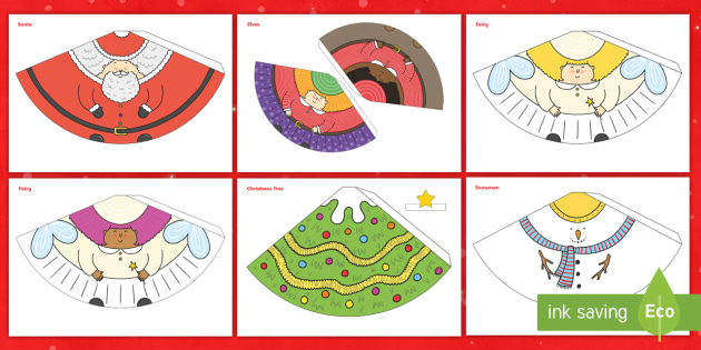 Christmas Cone Characters Festive Primary Resource