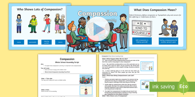 Compassion assemblyteach to be happy birthday