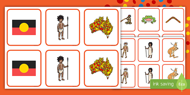 naidoc week memory match game eylf australia aboriginal