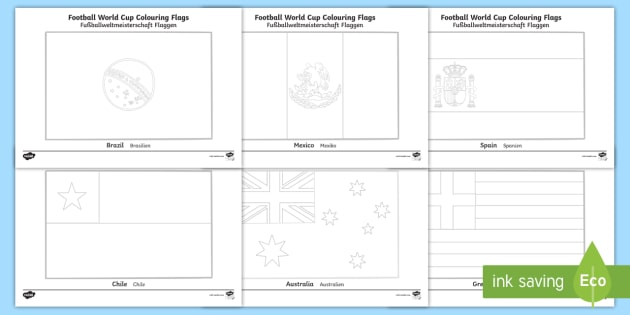 World Cup Flags Colouring Pages English/German - Football ...