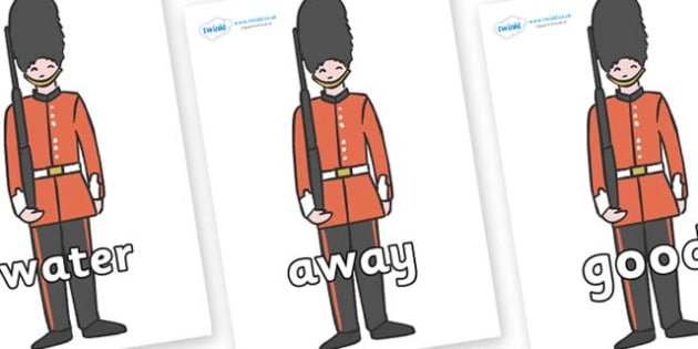 Next 200 Common Words on Royal Guards - Next 200 Common Words on  - DfES Letters and Sounds, Letters and Sounds, Letters and sounds words, Common words, 200 common words
